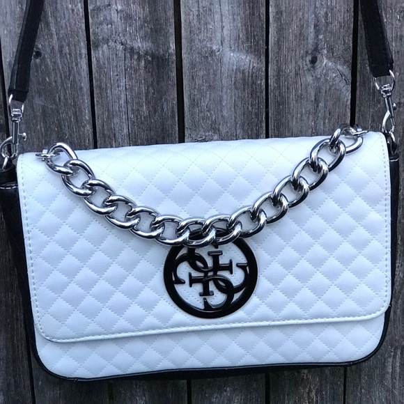e1b3ac494a Guess Handbags - Guess G Lux Quilted Flap-over Crossbody Handbag